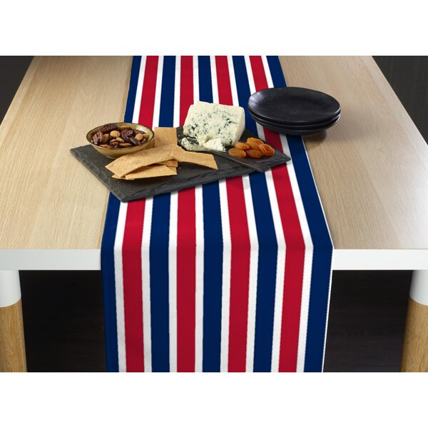 Escamilla American Stripes Milliken Signature Table Runner by Breakwater Bay