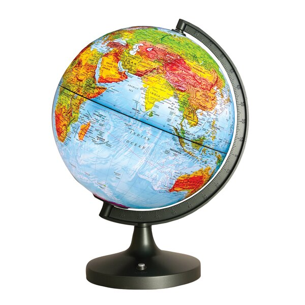 Dual Cartography LED Illuminated Globe by Elenco Electronics