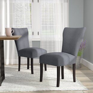 Salmon Allure Pebble Spring Seating Double Dow Upholstered Parsons Chair (Set of 2)