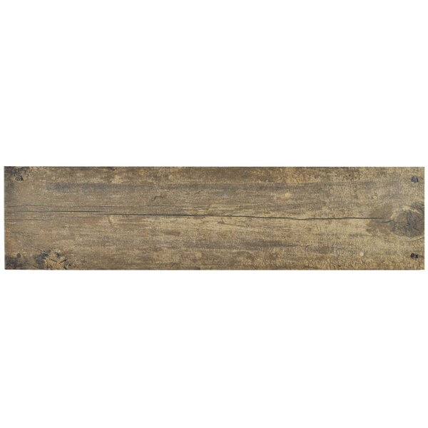Chalet 5.88 X 23.63 Ceramic Wood Look/Field Tile in Brown by EliteTile