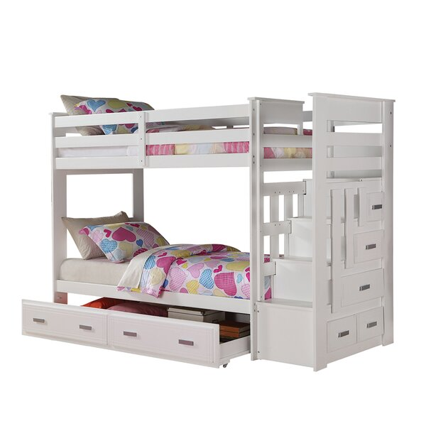 Steinfort Twin Over Twin Bunk Bed with Drawers by Harriet Bee