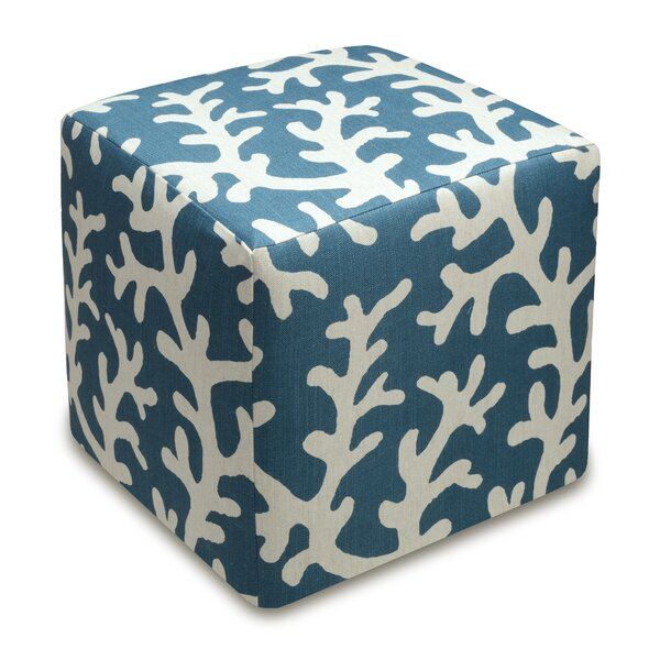 Coral Cube Ottoman by 123 Creations