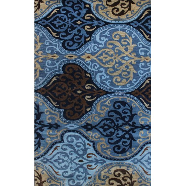 Brucelyn Hand-Tufted Blue Area Rug by Bloomsbury Market