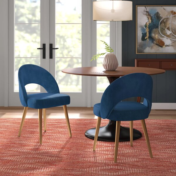 Greta Retro Upholstered Dining Chair (Set of 2) by Modern Rustic Interiors