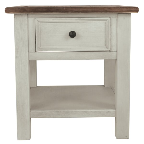 Marsha End Table With Storage By Alcott Hill
