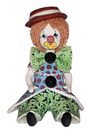 Zampiva Authentic Shelf Sitting Clown Figurine by Three Star Im/Ex Inc.