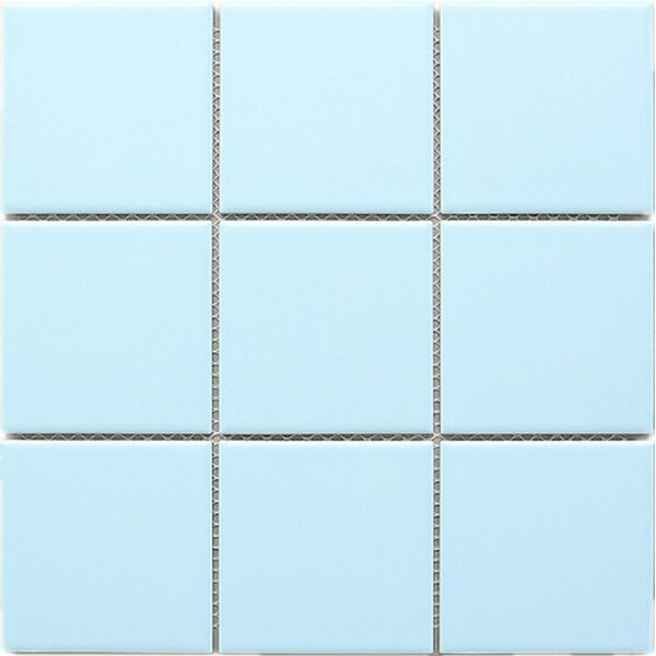 Cloud 4 x 4 Porcelain Tile in Blue by Multile