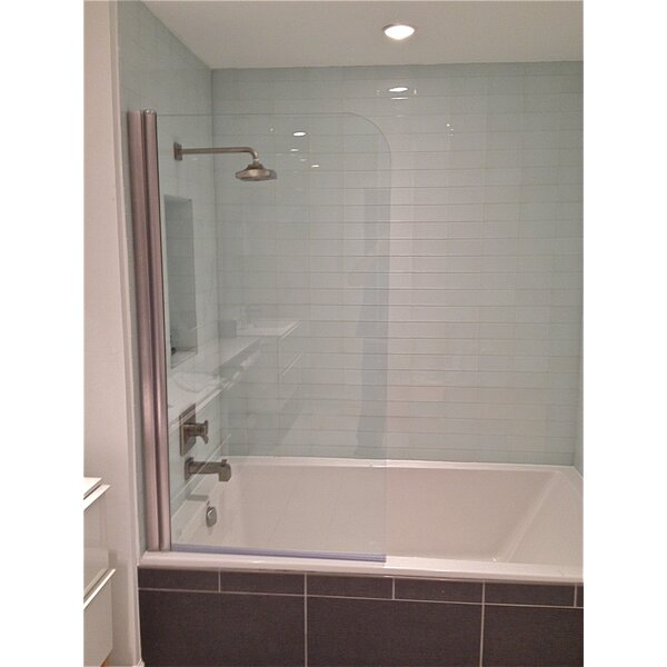 30 x 64 Pivot Semi-Frameless Tub Door by Ark Showers