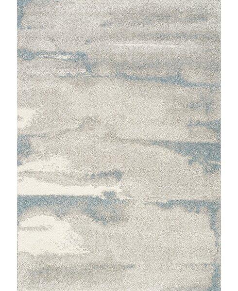 Kara Cream/Blue Area Rug by Latitude Run