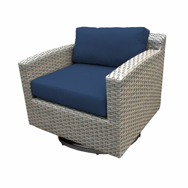 Meeks Swivel Patio Chair with Cushions by Rosecliff Heights