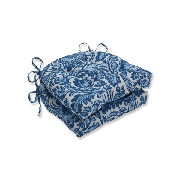 Tucker Resist Azure Reversible Indoor/Outdoor Dining Chair Cushion (Set of 2) by Ophelia & Co.