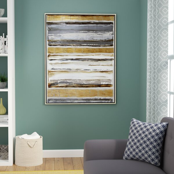 Hand Painted Inca Abstract Framed Painting Print on Canvas by Wade Logan