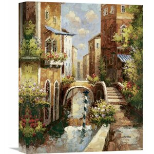 Venice Canal II' by Peter Bell Painting on Wrapped Canvas by Global Gallery