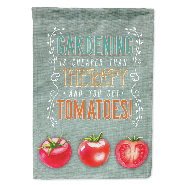 Gardening Therapy and Tomatoes 2-Sided Polyester 15 x 11 in. Garden Flag by Caroline's Treasures