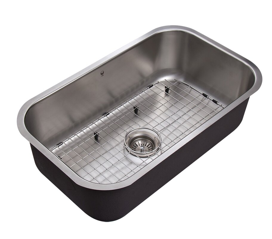 30 inch undermount 18 gauge stainless steel kitchen sink
