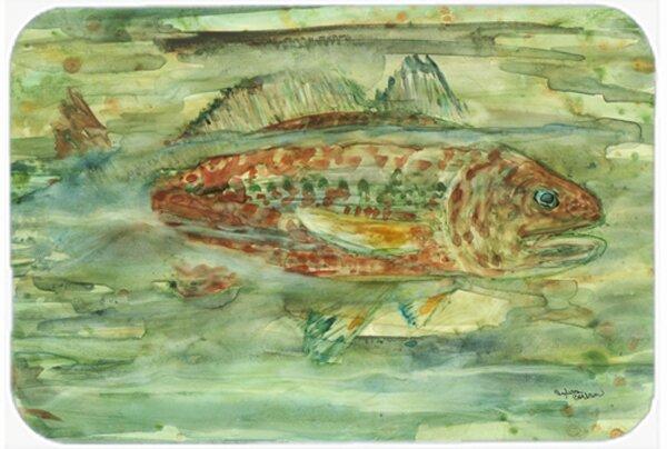Abstract Fish Kitchen/Bath Mat by Caroline's Treasures