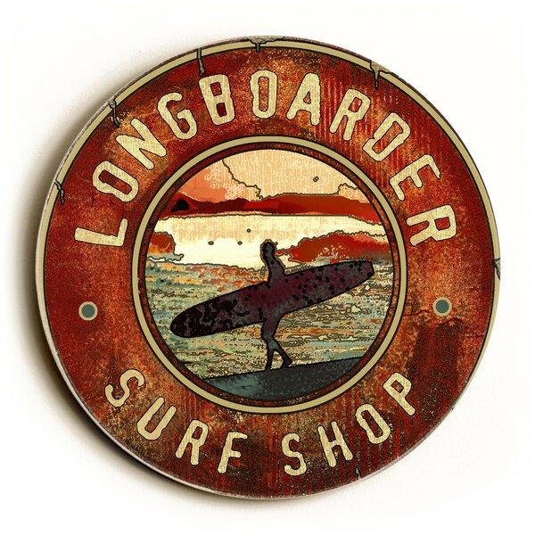 Longboarder Surf Shop Vintage Advertisement by Artehouse LLC