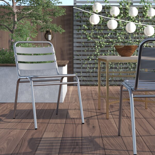 Austral Stacking Patio Dining Chair (Set of 4) by Ivy Bronx