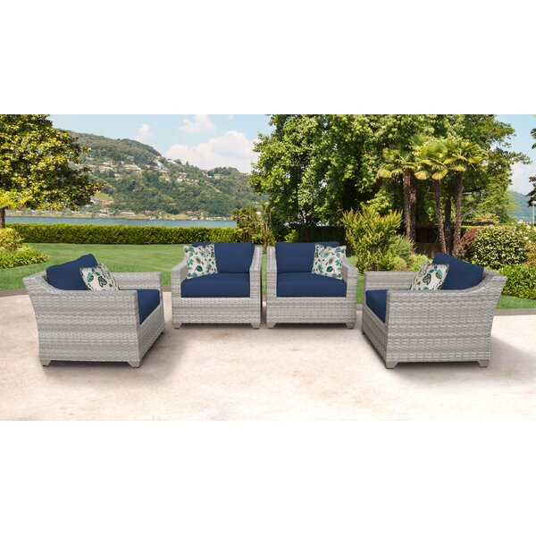 Waterbury Patio Chair with Cushions (Set of 4) by Sol 72 Outdoor