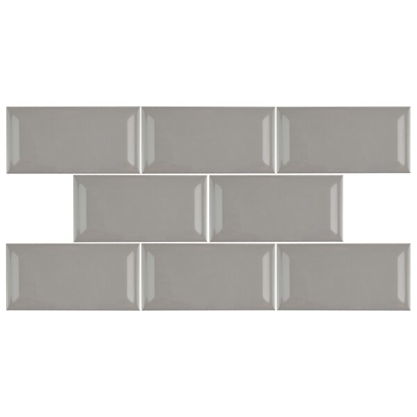 Prospect 3 x 6 Beveled Ceramic Subway Tile in Warm Gray by EliteTile