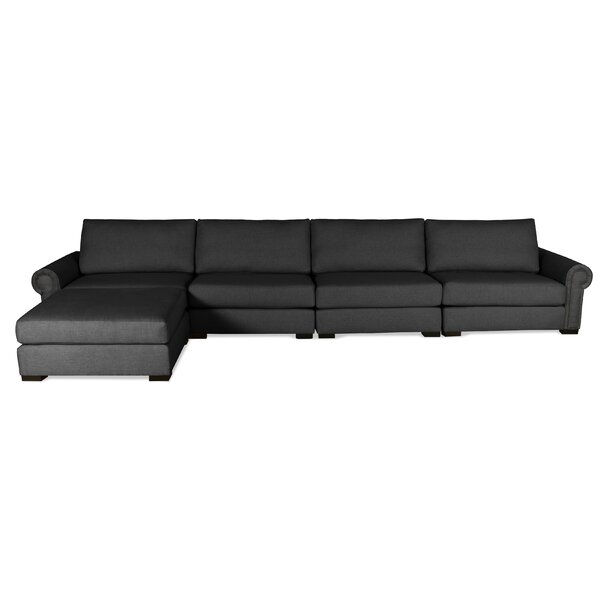 Willia Reversible Modular Sectional with Ottoman by Three Posts
