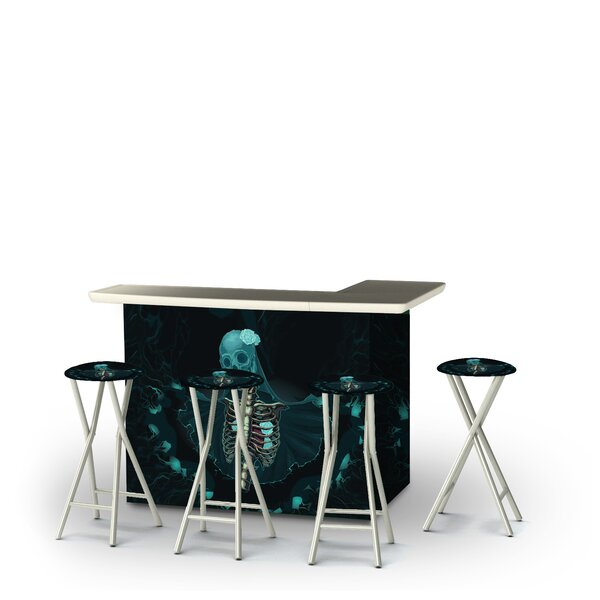 Alleghenyville Halloween Corpse Bride 5-Piece Bar Set by East Urban Home East Urban Home