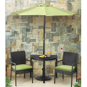 Sibley Balcony 4 Piece Bistro Set With Cushions