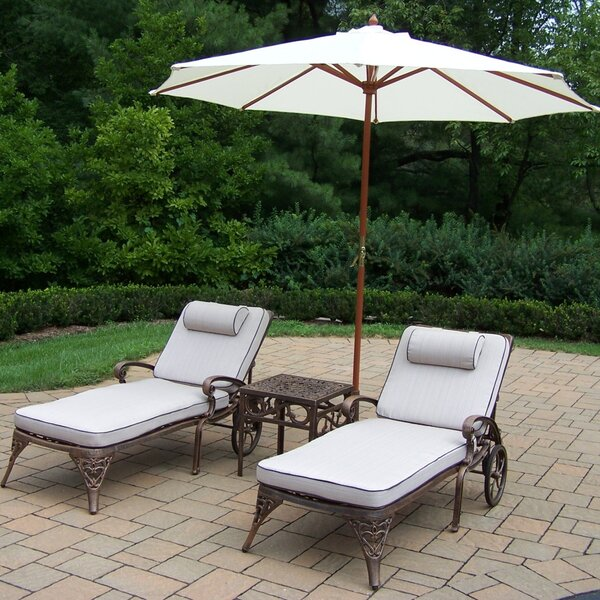 Elite 3 Piece Seating Group with Cushions by Oakland Living