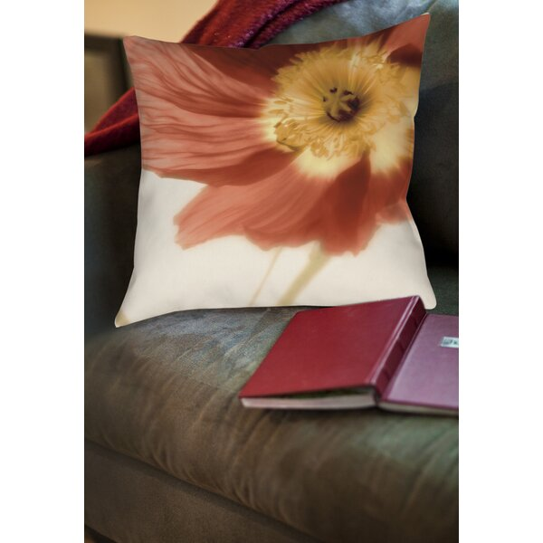 Mystic Poppy 1 Printed Throw Pillow by Manual Woodworkers & Weavers