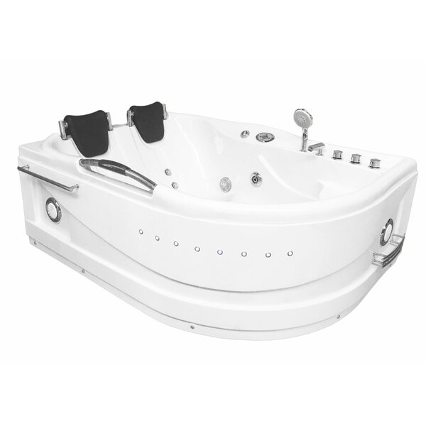 Cayman Hydrotherapy 2 Persons 67 x 47 Freestanding Whirlpool Bathtub by Simba USA Inc