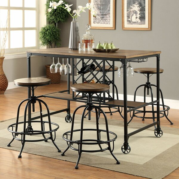 Ponder 5 Piece Dining Set by 17 Stories