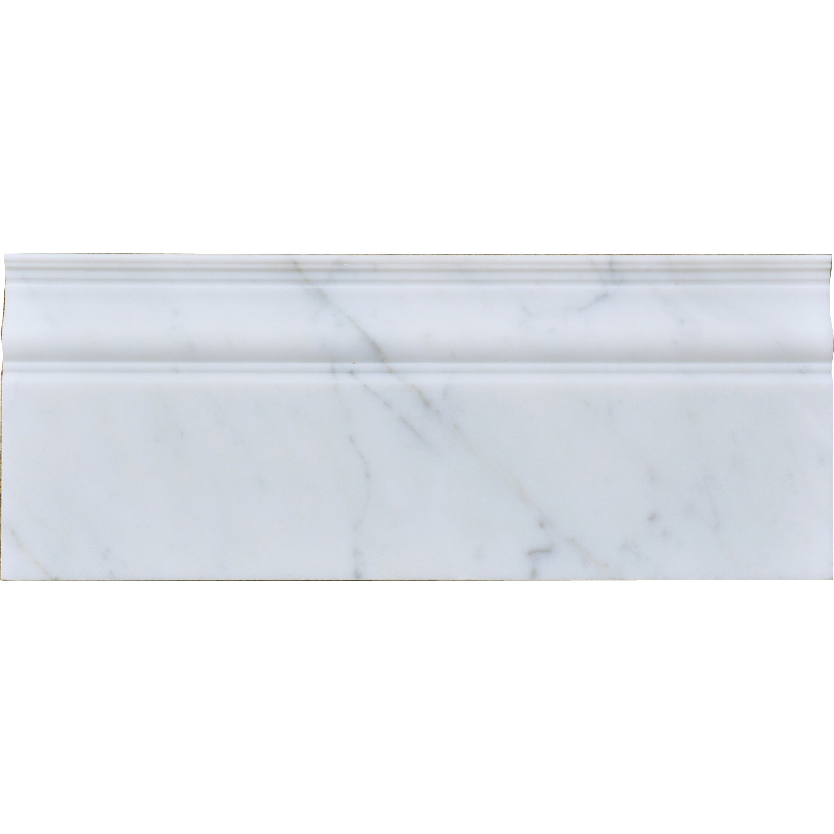The Bella Collection 12 X 5 Marble Specialty Piece Tile Trim In White Wayfair