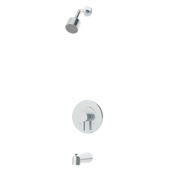 Dia 1-Handle Tub and Shower Valve Faucet Trim Kit with Lever Handle by Symmons