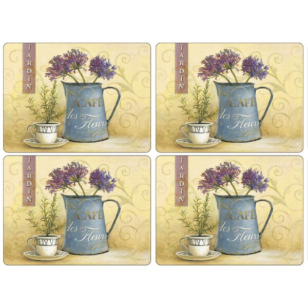 Café de Fleurs Placemat (Set of 4) by Pimpernel