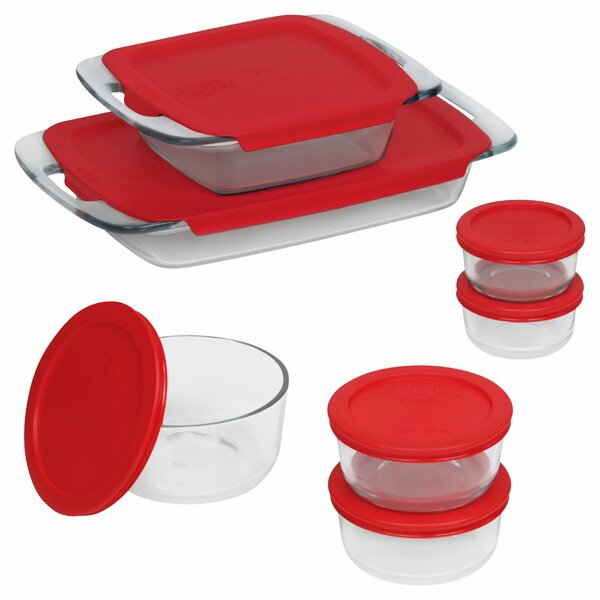 Easy Grab 14 Piece Bakeware and Food Storage Set by Pyrex