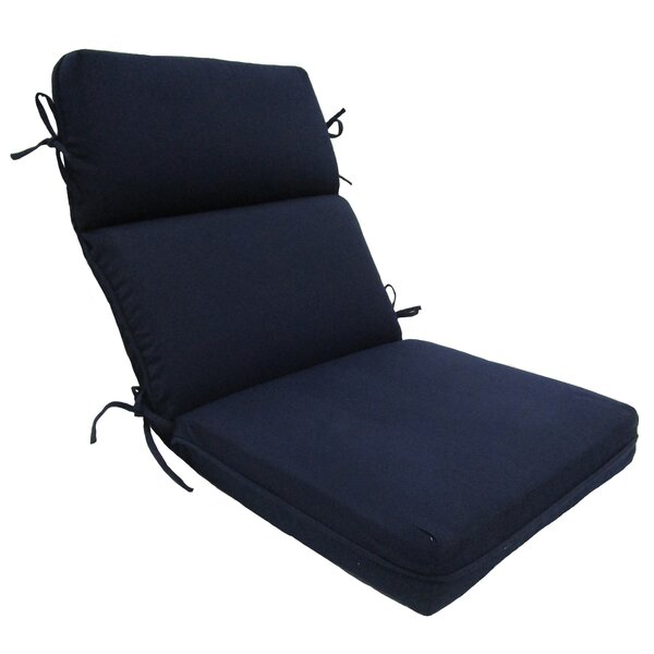 Solid High Back Outdoor Lounge Chair Cushion by Winston Porter