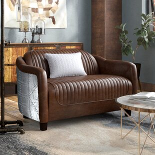 Annessia Leather Loveseat