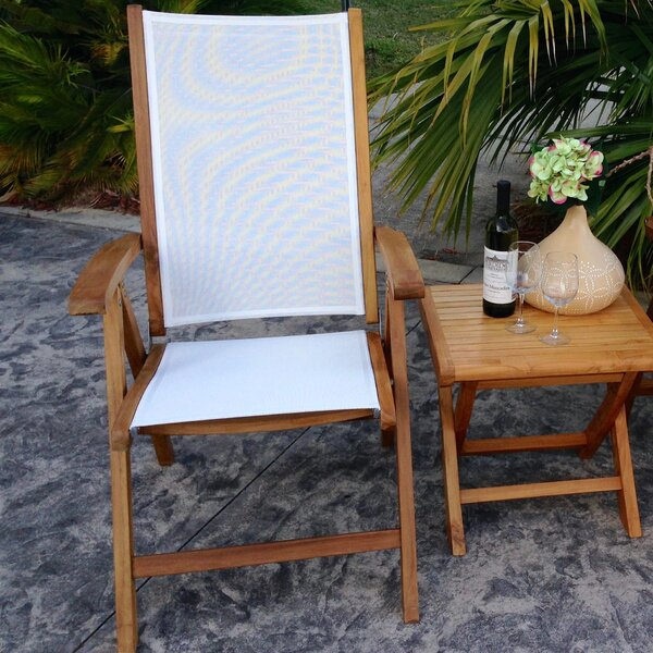 California Folding Teak Patio Dining Chair by Chic Teak