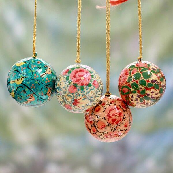 Novica Syed Izaz Hussein Christmas 4 Piece Handmade Papier Mache Ornament  Set   Wayfair - Novica Syed Izaz Hussein Christmas 4 Piece Handmade Papier Mache