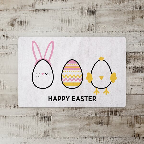 Montrose Easter Egg Characters Kitchen Mat