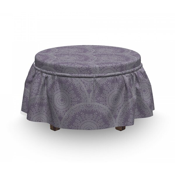 Oriental D Round Motif Ottoman Slipcover (Set Of 2) By East Urban Home