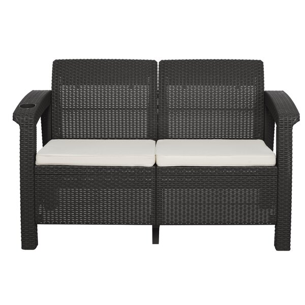 Escolta Loveseat with Cushions by Canora Grey Canora Grey