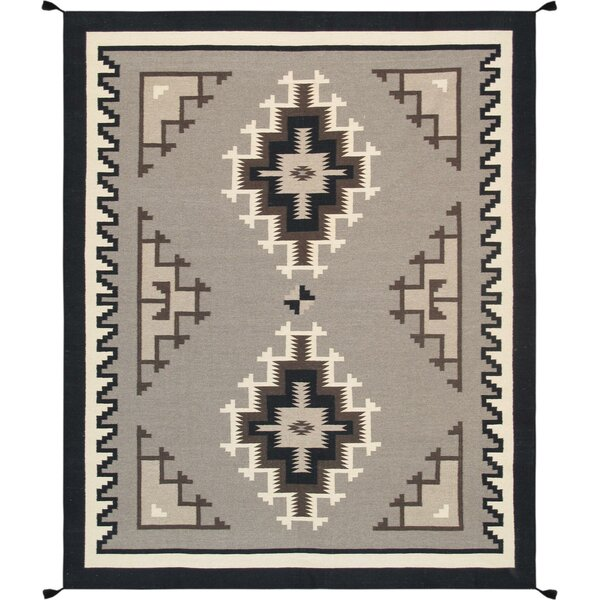 Kilim Hand-Woven Wool Brown/Black Area Rug by Pasargad