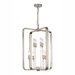 Kolton 8 - Light Lantern Rectangle Chandelier by Brayden Studio Brayden Studio
