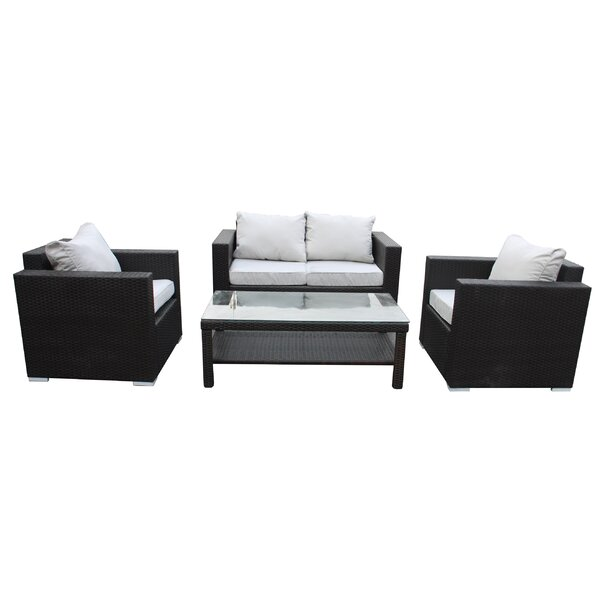 Pari 4 Piece Sofa Set with Cushions by Brayden Studio