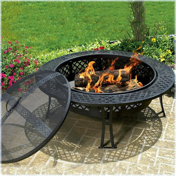 Diamond Steel Wood Burning Fire Pit Table by CobraCo