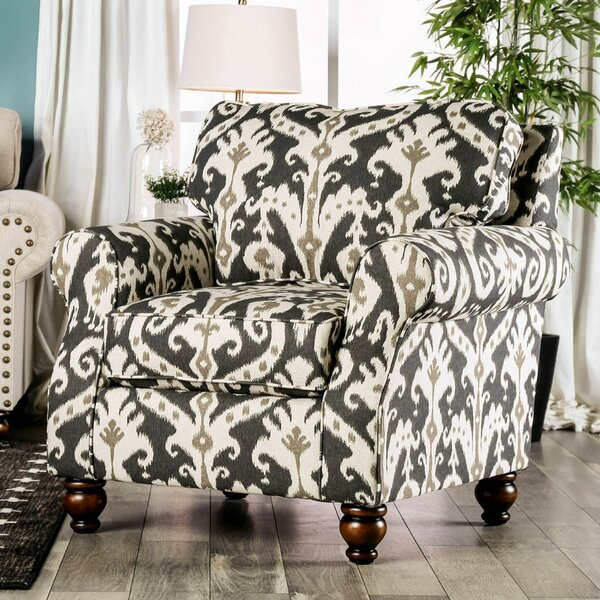 Oneybrook Printed Fabric Upholstered Armchair by Canora Grey