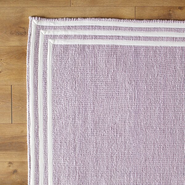 Three Strikes Hand-Woven Purple Area Rug by Birch Lane Kids™