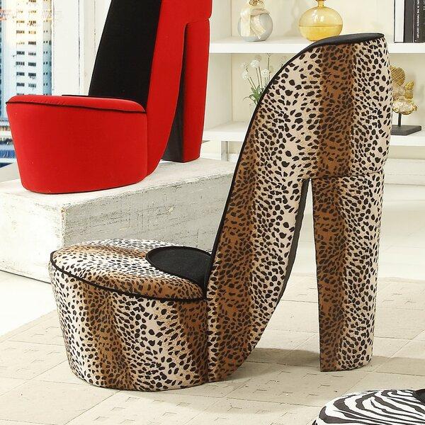 williams import co. leopard high heel lounge chair & reviews | wayfair
