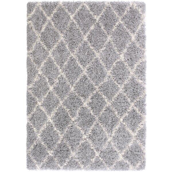 Bostrom Shag Gray/Ivory Area Rug by Mercury Row